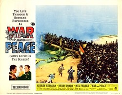 War and Peace Lobby Card Starring Audrey Hepburn and Henry Fonda - 1956