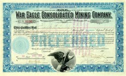 War Eagle Consolidated Mining Company 1900 - 1905