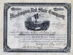 Washington Red Slate Company - Quarries in Washington County, New York - 1890
