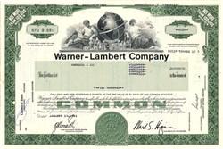 Warner - Lambert Pharmaceutical Company (Now Pfizer)