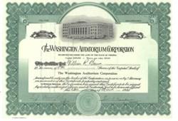 Washington Auditorium Corporation 1925