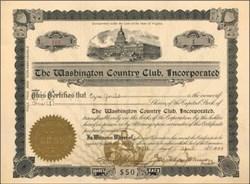 Washington Country Club, Inc - 1909