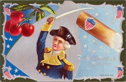 Washington his Bravery Post Card