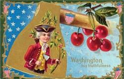 Washington His Truthfulness Postcard