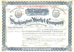 Washington Market Company - Washington DC 1927