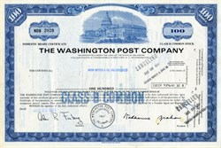 """Washington Post Company with Kay Graham as Chairman (Meryl Streep stars as Post publisher Katharine Graham in the movie """"The Post"""")  - Delaware  - 1971"""