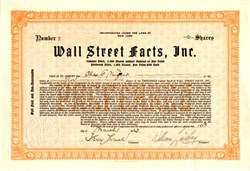 Wall Street Facts, Inc. - New York 1923