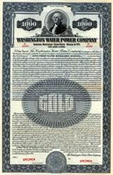 Washington Water Power Company 1926 ( Early Avista Corporation ) - Gold Bond