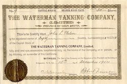 Waterman Tanning Company (Limited) - Town of Bridgewater , Nova Scotia 1904