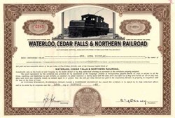 Waterloo, Cedar Falls & Northern Railroad 1949