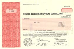 Walker Telecommunications Corporation (Early Cellular Phone Manufacturer)  - New York 1986