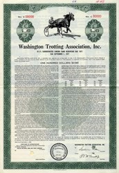 Washington Trotting Association, Inc. - Pennsylvania 1962
