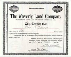 Waverly Land Company 1896
