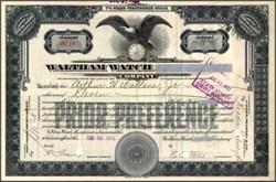 Waltham Watch Company - Massachusetts 1920's