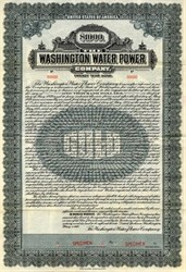 Washington Water Power Company - Specimen Gold Bond - Spokane, Washington 1919