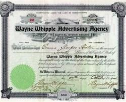 Wayne Whipple Advertising Agency - Massachusetts 1904