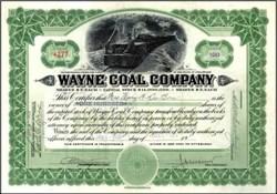 Wayne Coal Company - Underground Train Vignette 1923