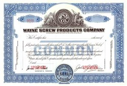 Wayne Screw Products Company (Perfect Gift for Wayne)