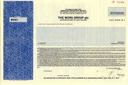 WCRS Group plc - England 1987