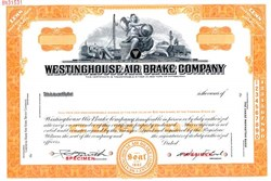 Westinghouse Air Brake Company (Specimen Stock Certificate) - Pennsylvania