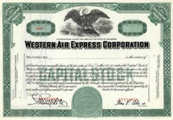 Western Air Express Corporation ( Early TWA and Western Airlines )