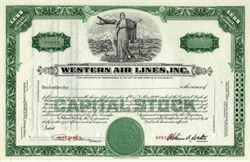 Western Air Lines, Inc -  William A. Coulter as President