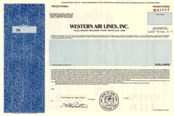 Western Air Lines, Inc. - New York 1983