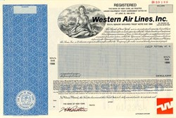 "Western Air Lines, Inc. (Western Air Lines, Inc (""It's the oooooonly way to fly!"" )  - North Carolina 1984"