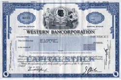Western Bancorporation ( Became First Interstate Bancorp)- Delaware 1978