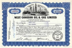 West Canadian Oil & Gas Limited - Canada 1958