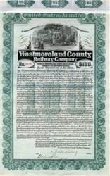 Westmoreland County Railway Company - Pennsylvania 1905