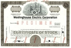 Westinghouse Electric Corporation Specimen - Pennsylvania 1971