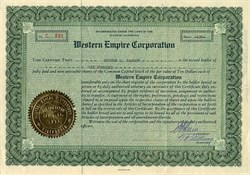 Western Empire Corporation - California 1935