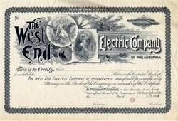 West End Electric Company - Philadelphia, Pennsylvania 1898