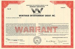 Weintraub Entertainment Group, Inc.(Jerry Weintraub as President)  - Delaware 1988