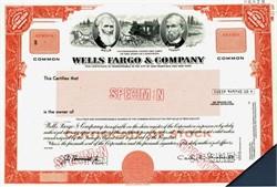 Wells Fargo & Company Specimen - California
