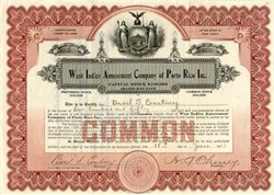 West Indies Amusement Company of Porto Rico Inc. - New York 1913
