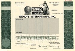 Wendy's International, Inc. (Dave Thomas as Chairman) - Ohio 1981