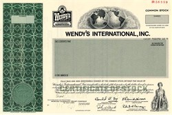 Wendy's International, Inc. (Dave Thomas as Chairman) - Ohio 1983