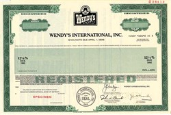 Wendy's International, Inc. High Yield Bond - Ohio 1985