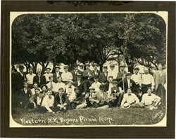 Western New York Barbers Picnic Photograph - 1907