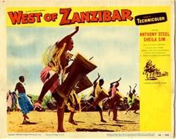 West of Zanzibar Lobby Card Starring Anthony Steel and Sheila Sim - 1954