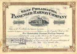 West Philadelphia Passenger Railway Company - Pennsylvania 1925