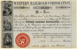 Western Railroad Corporation - Massachusetts 1850