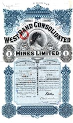 West Rand Consolidated Mines Limited - South Africa 1937
