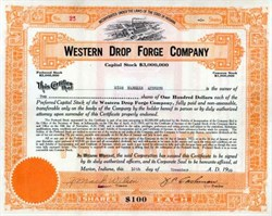 Western Drop Forge Company - Indiana 1920