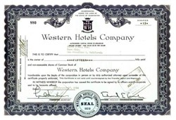 Western Hotels Company 1964 - Washington DC