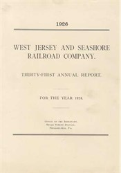 West Jersey and Seahshore Railroad Company 1926
