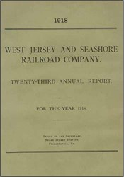 West Jersey and Seashore Railroad Company Annual Report 1918