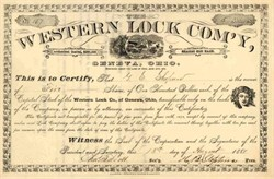 Western Lock Company 1881